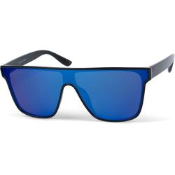 styleBREAKER Sonnenbrille Monoglas Shield Sonnenbrille Verspiegelt schwarz
