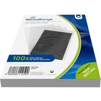 MediaRange CD/DVD-Taschen transparent 14 mm 100er Pack