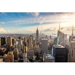 Papermoon Fototapete New York City Skyline, glatt 5 m x 2,8 m