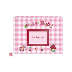 Coppenrath Album Unser Baby, Stoff-Fotoalbum rosa
