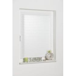 Plissee COMO, K-HOME, Lichtschutz, freihängend weiß 90 cm x 130 cm