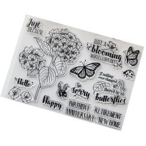 Kimruida Blume DIY Silikon Klar Stempel Cling Seal Sammelalbum Präge Album Decor Craft