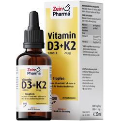 VITAMIN D3+K2 MK-7 Tropfen hochdosiert 25 ml