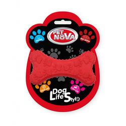 Hundespielzeug Kauspielzeug DENTBONE-RE Kauspielzeug Knochen Rindfleisch Geschmack 10,5cm red