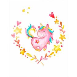 Poster »Ruby the Unicorn«, Bilder, 61482151-0 rosa 40x50 cm rosa