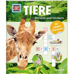 WIW Rätseln und Stickern Tiere