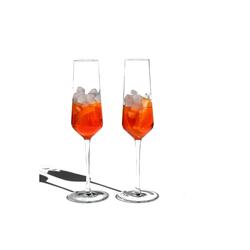 Blue Chilli Design Sektglas Design: Queen Ann (2-tlg), Kristallglas, Handgefertigt, Kristallglas, leicht und filigran, spülmaschinenfest