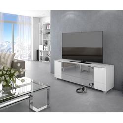 Maja Möbel Lowboard Soundconcept Weißglas matt