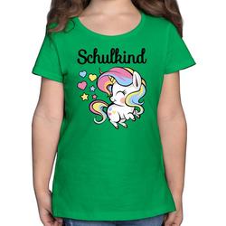 Shirtracer T-Shirt Schulkind mit Einhorn - Einschulung und Schulanfang - Mädchen Kinder T-Shirt - T-Shirts einschulung einhorn 116 (5/6 Jahre)