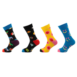 Happy Socks Socken 4-pack Smiley Yin Yang Socks Gift Set Socken 41-46
