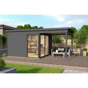 44mm Gartenhaus 524x320 + Schiebetür + Fußboden Gerätehaus Holzhütte Holz Haus