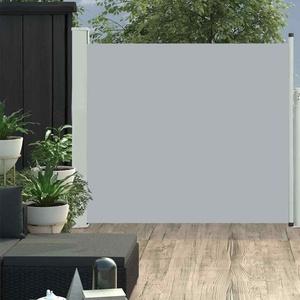 Seitenmarkise Ausziehbar 100x300cm Grau Sonnenschutz Sichtschutz Balkon