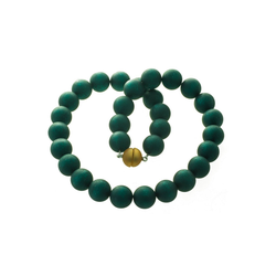 Bella Carina Perlenkette grün 16 mm, dunkles grün 16 mm 55 cm
