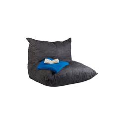 relaxdays Sitzsack Sitzsack XXL grau mit Lehne
