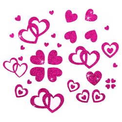 Herz Sticker Set Glitter Glitzernd - pink