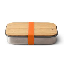 BLACK+BLUM Sandwichbox Edelstahl Bambus 22 x 15 x 5 cm orange