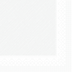 "Mank Tissue Deluxe Servietten ""Basics Uni"", 40 cm x 40 cm, 1/4 Falz, 4-lagig, Farbe: weiss, 1 Karton = 6 x 50 Stück = 300 Servietten"