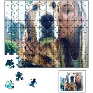 Louisleo Puzzle mit eigenem Foto gestalten, Fotopuzzle 1000 500 120 Teile, Holzpuzzle Personalisierte Fotogeschenke + Original Poster