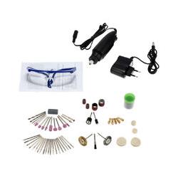 Happyshopping - 87 pieces Mini bricolage electrique moto ensemble menage perceuse electrique 30 W