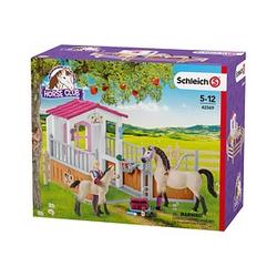 Schleich® Horse Club 42369 Pferdebox mit Arabern und Pferdepflegerin Set