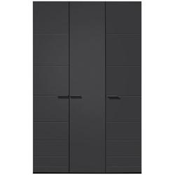 Loddenkemper Drehtürenschrank Malibu 3 türig grau 152 cm x 238,9 cm x 59,5 cm