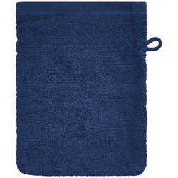 Dyckhoff Waschhandschuh ''Kristall'' Marine - Blau 16 x 21 cm