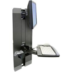 Ergotron StyleView Vertical Lift 1fach Monitor-Wandhalterung 25,4cm (10 ) - 61,0cm (24 ) Tastaturabl