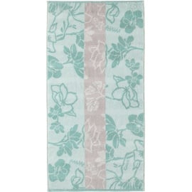 CAWÖ Noblesse Interior Floral 1080 Handtuch 50 x 100 cm seegrün