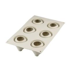 Silikomart Design 3D Silikonform Fragole E Panna 59x61 mm Hellgrau