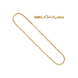 JOBO Kette ohne Anhänger, Königskette 925 Silber vergoldet 45 cm