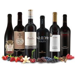 Die italienische Gang mit 6 Flaschen Rotwein