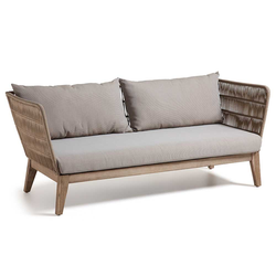 Lounge Couch in Beige Eukalyptusholz