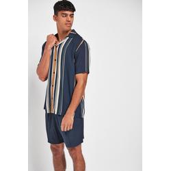 Next Pyjama Gestreifter Pyjama (2 tlg) L