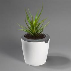 LazyLeaf Blumentopf selbstgießend 1,1l 17cm weiß/grau Micro-USB 1200mAh