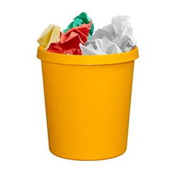 helit Papierkorb 18,0 l gelb