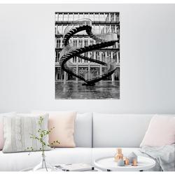 Posterlounge Wandbild, Endlose Stahltreppe in München 100 cm x 130 cm