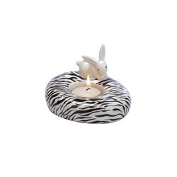 Goebel Teelichthalter Zebra Bunny - Teelichthalter Bunny de luxe
