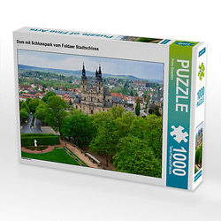 Dom mit Schlosspark vom Fuldaer Stadtschloss Lege-Größe 64 x 48 cm Foto-Puzzle Bild von Prime Selection Kalender Puzzle