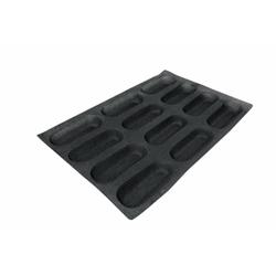 SCHNEIDER AIR Mini Baguette Backform, Gebäckform für Baguette, wie auch Feingebäck, Durchmesser: 169 x 64 mm