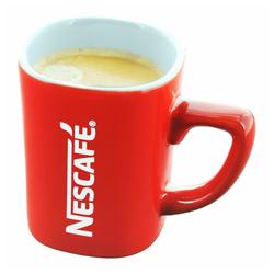 NESCAFE Becher Kaffeebecher mit Henkel, rot, 125 ml, Porzellan