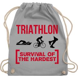 Shirtracer Turnbeutel Triathlon - Survival of the hardest - Sonstige Sportarten - Turnbeutel