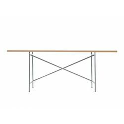 Tischgestell Eiermann 1 Richard Lampert silber, Designer Prof. Egon Eiermann, 66-86x110x78 cm
