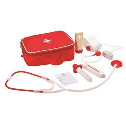 Hape Spielzeug-Arztkoffer (7-tlg.) rot Kinder Ab 3-5 Jahren Altersempfehlung Rollenspielzeug