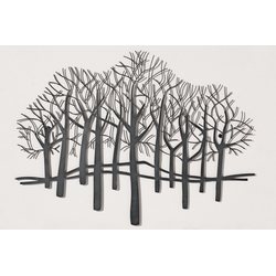Wanddeko Bäume schwarz