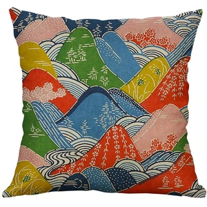 Kissenbezug KissenhülleFghyh Landscape Series 50x50cm Leinenn Pillow Kissenbezug Home Decorative(B)