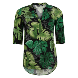 Bluse mit Blätter-Print Doris Streich kiwi