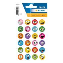 Sticker »DECOR«, lustige Gesichter, Herma