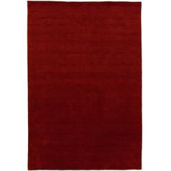 Wollteppich LORIBAFT TEPPSTAR, morgenland, rechteckig, Höhe 15 mm, reine Schurwolle, uni, Wohnzimmer rot 70 cm x 140 cm x 15 mm