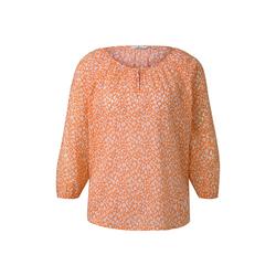 TOM TAILOR Damen Bluse mit Raffungen, orange, Gr.34