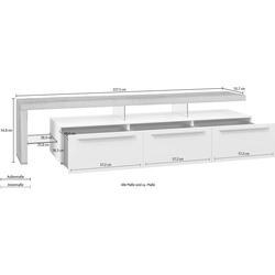 GWINNER Lowboard Bellano (2 St), mit TV-Brücke links